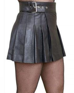 leather women kilt