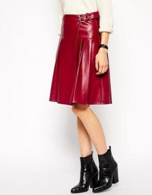 red leather kilt