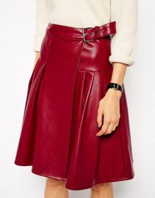 leather Red Kilt