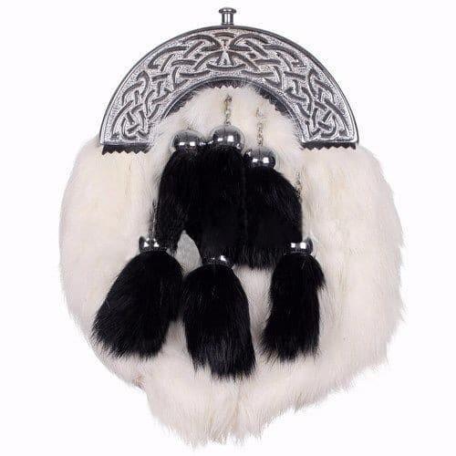 White Sporran Rabbit Fur