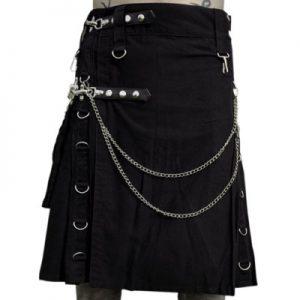 Gothic Utility Black Kilt