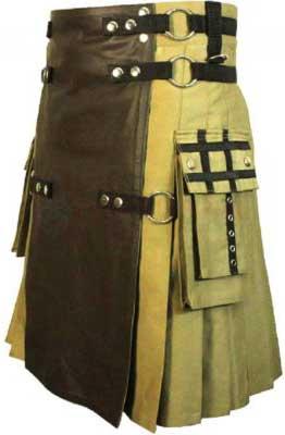 khaki brown kilt