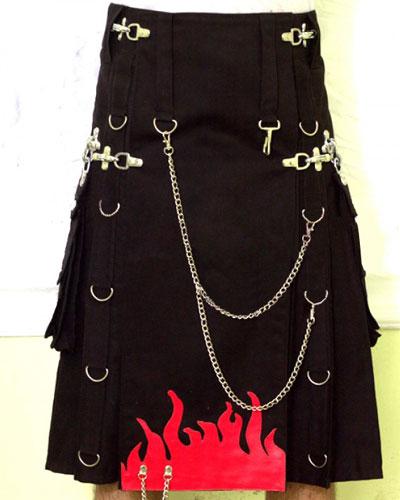 Gothic Utility Kilt Outfit